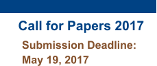 Call for Papers 2017 Submission Deadline: May 19, 2017